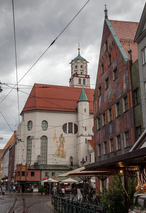 Augsburg Maximilianstraße: St. Moritz Weberhaus