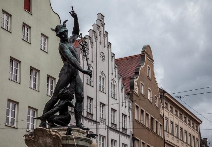 Augsburg Maximilianstraße: Merkurbrunnen