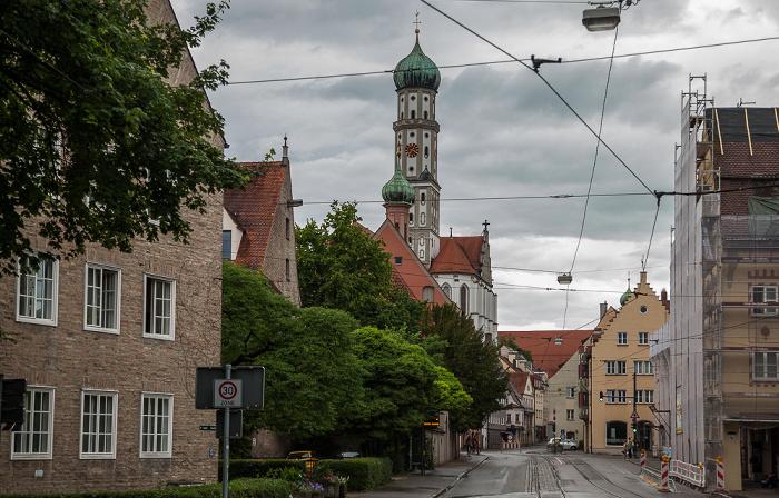 Augsburg Margaretenstraße (vorne), Milchberg Basilika St. Ulrich und Afra St. Margareth