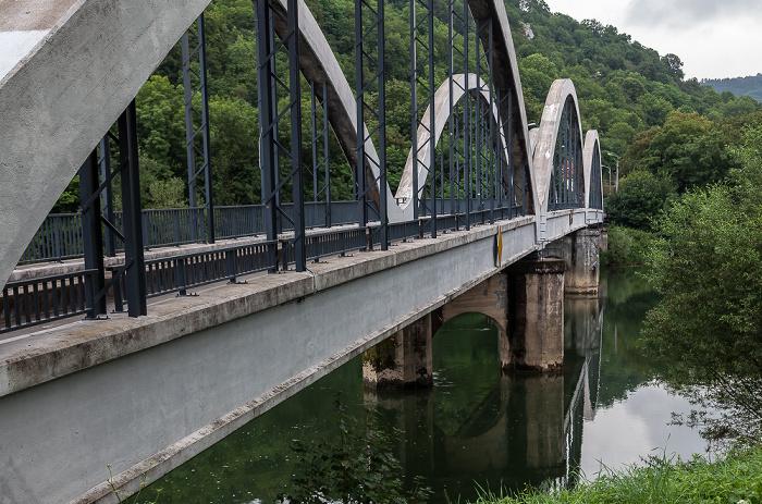 Besançon Pont de Chardonnet über den Doubs