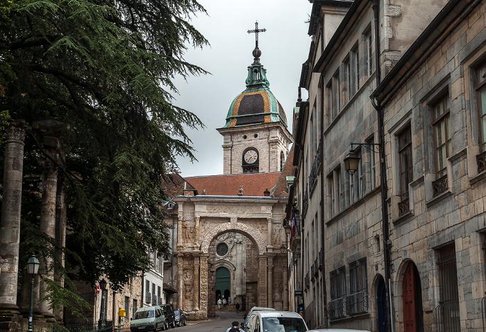 La Boucle: Rue de la Convention mit Porte Noire und Cathédrale Saint-Jean de Besançon Square Castan