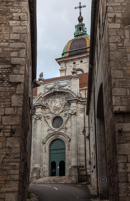 La Boucle: Rue de la Convention: mit der Cathédrale Saint-Jean de Besançon
