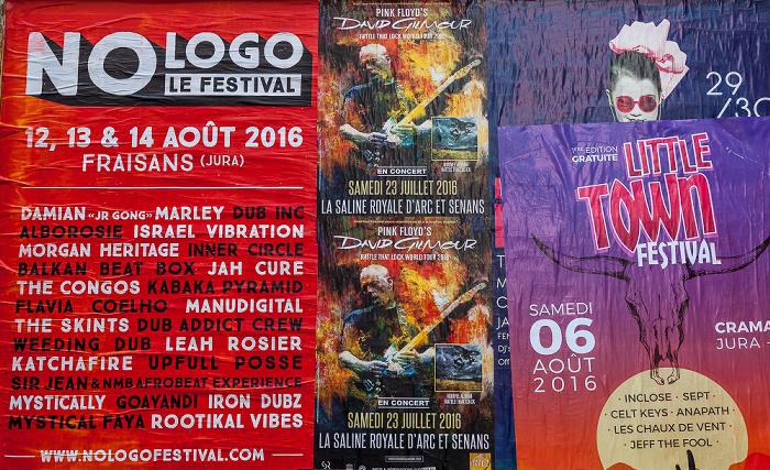 Besançon La Boucle: Rue de la Préfecture / Rue Mégevand - Konzert-Plakate