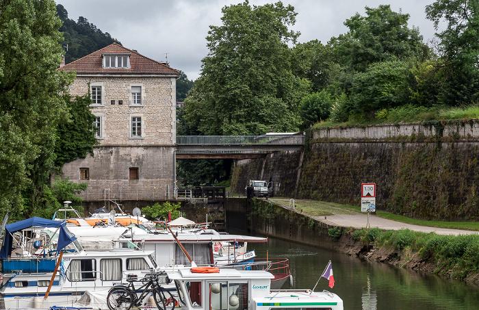 Besançon Blick von der Pont de la République: Doubs