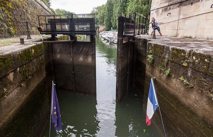 Besançon Doubs: Schleuse Pont de la République