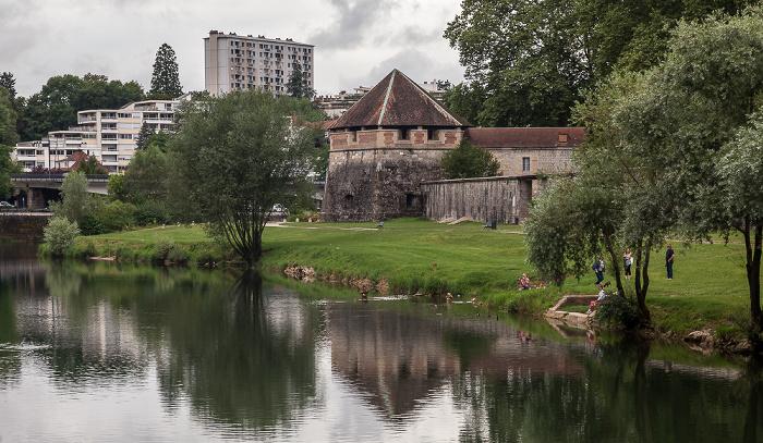 Besançon Doubs, Jardins de la Gare-d'Eau, Tour de Chamars