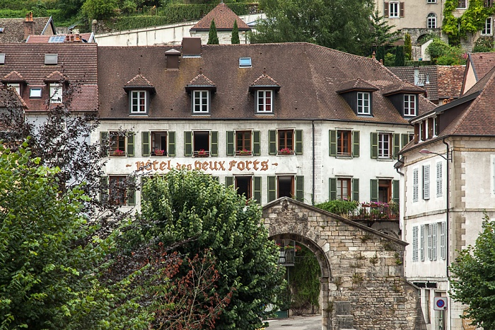 Hôtel des Deux Forts, Eingangstor zu den Salines de Salins-les-Bains