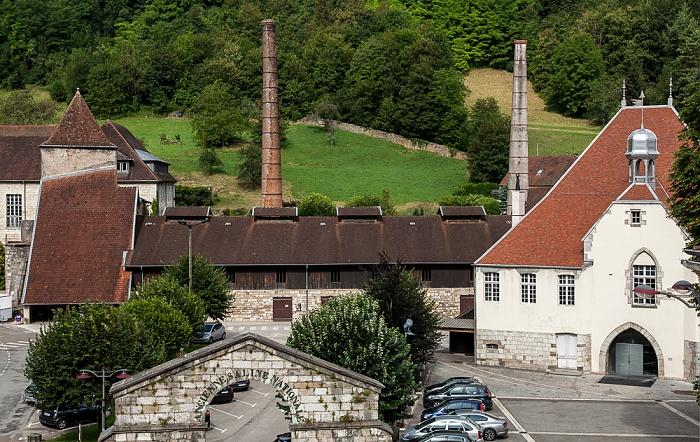 Blick aus dem Hôtel des Deux Forts: Salines de Salins-les-Bains