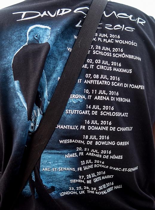 Saline Royale d'Arc-et-Senans (Königliche Saline): David Gilmour Arc-et-Senans Europäischer Tourplan 2016 von David Gilmour