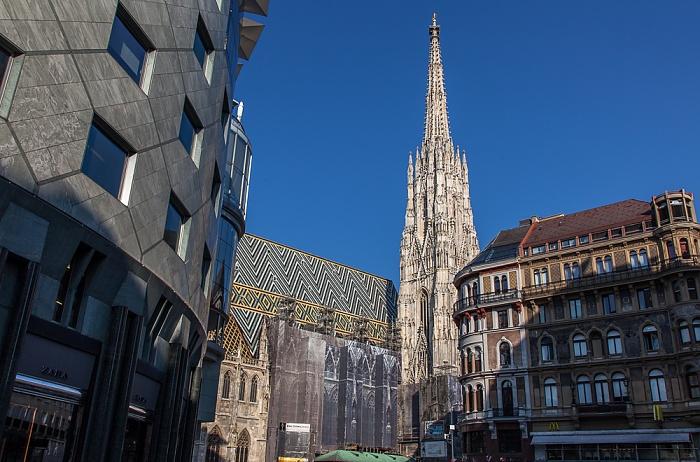 Wien Innere Stadt: Stephansplatz, Stephansdom Haas-Haus