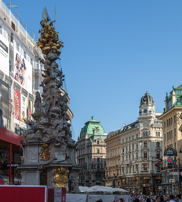 Innere Stadt: Graben - Pestsäule Wien 2016