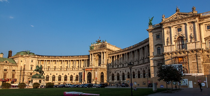 Innere Stadt: Hofburg - Heldenplatz mit Prinz-Eugen-Reiterdenkmal, Neue Burg Wien 2016
