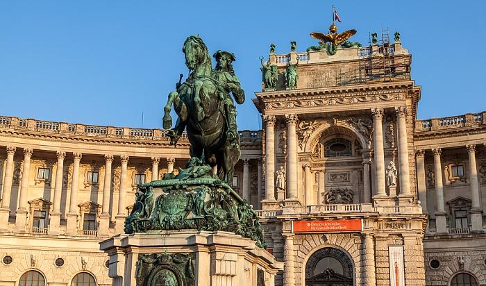 Wien Innere Stadt: Hofburg - Prinz-Eugen-Reiterdenkmal, Neue Burg