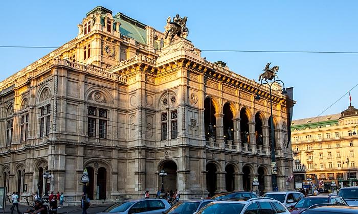 Innere Stadt: Wiener Ringstraße (Opernring) - Wiener Staatsoper Wien 2016