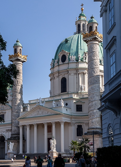 Wieden (IV. Bezirk): Karlsplatz, Karlskirche Wien 2016