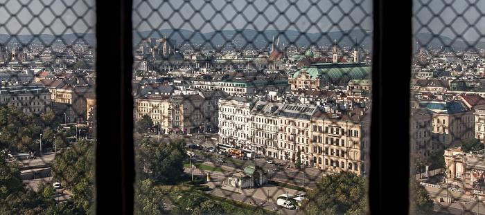 Wien Karlskirche: Blick aus der Kuppellaterne - Karlsplatz