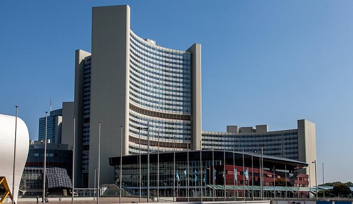 Wien Donaustadt (XXII. Bezirk): Donau City - UNO-City mit Vienna International Centre