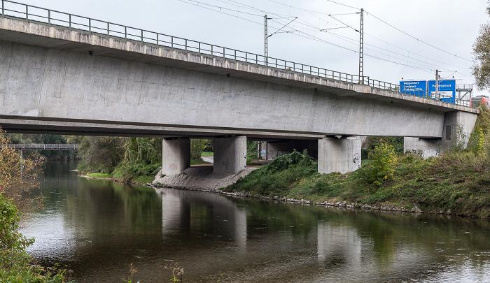 Freising Isar, Isarbrücke S-Bahn Neufahrn - Flughafen Autobahn 92-Isarbrücke
