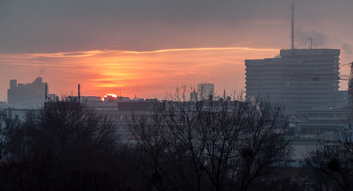 München Blick von der Technischen Universität (Arcisstraße): Stadtzentrum