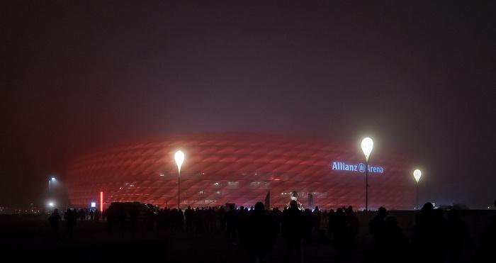 München Allianz Arena im Nebel