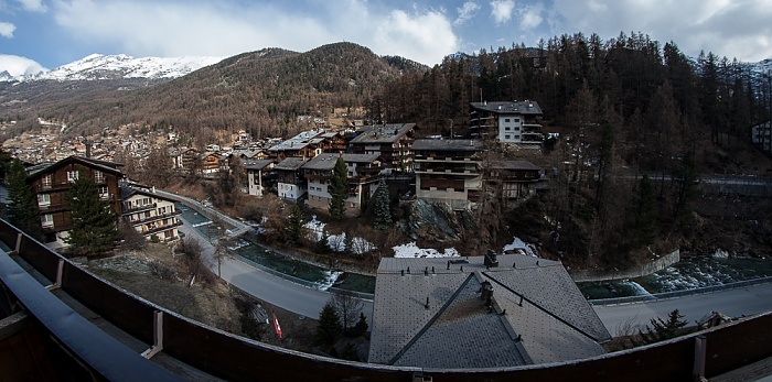 Blick aus dem Hotel Alpenblick Zermatt