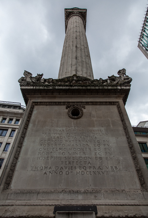 Monument to the Great Fire of London London