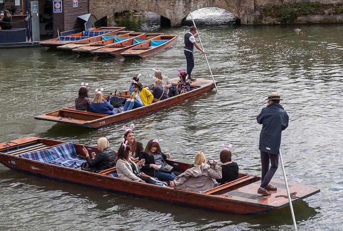 Cambridge Blick von der Silver Street: River Cam