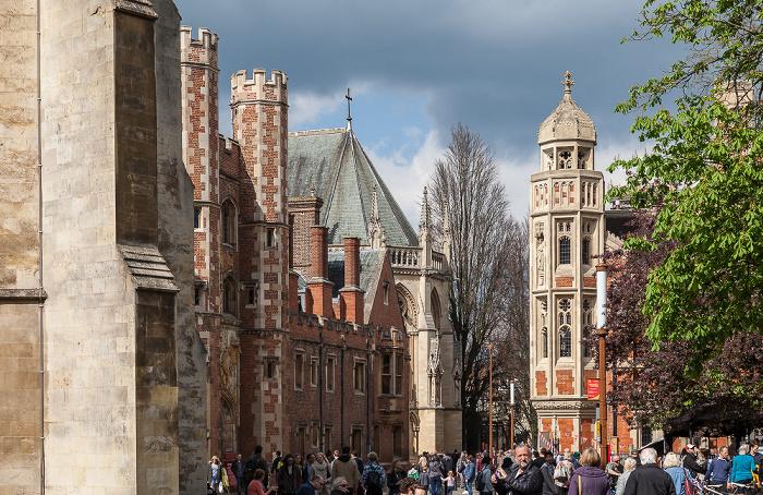Cambridge St John's Street: St John's College mit der St John's College Chapel