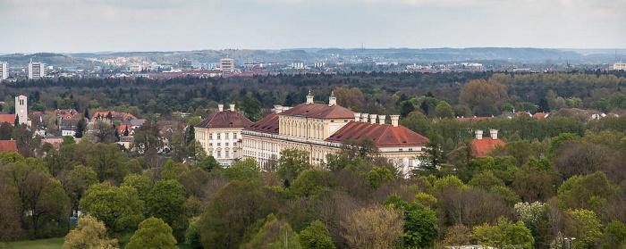 Luftbild aus Zeppelin: Schlossanlage Schleißheim - Neues Schloss München 2017