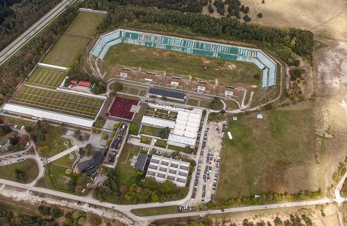 Luftbild aus Zeppelin: Olympia-Schießanlage Hochbrück München 2017