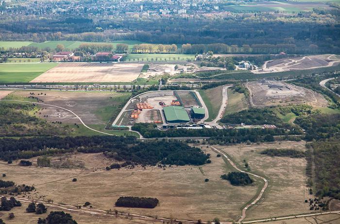 Luftbild aus Zeppelin: Entsorgungspark Freimann / Deponie München Nord-West München