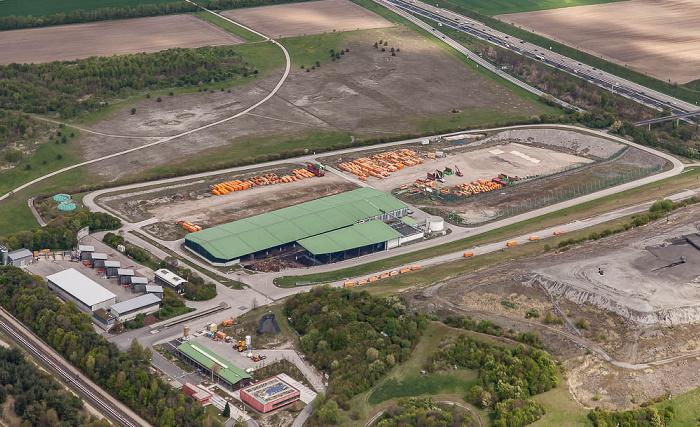 Luftbild aus Zeppelin: Entsorgungspark Freimann München