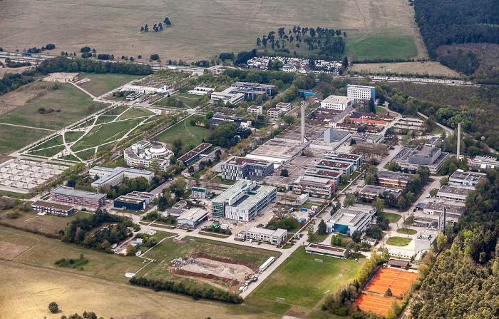 Luftbild aus Zeppelin: Helmholtz Zentrum München (Deutsches Forschungszentrum für Gesundheit und Umwelt) München 2017