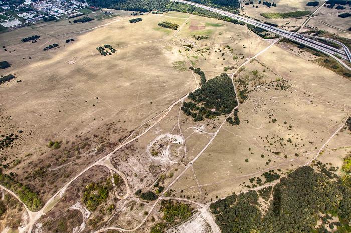 Luftbild aus Zeppelin: Fröttmaninger Heide München
