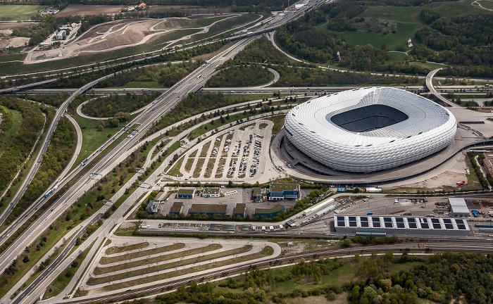Luftbild aus Zeppelin: Allianz Arena München 2017