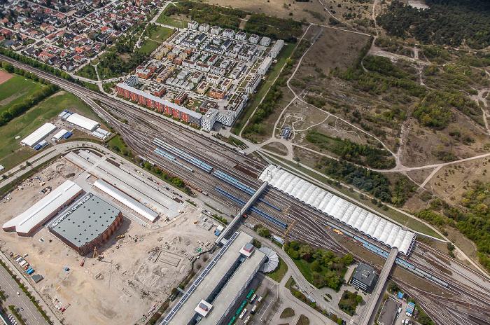 Luftbild aus Zeppelin: Schwabing-Freimann - Fröttmaning München 2017