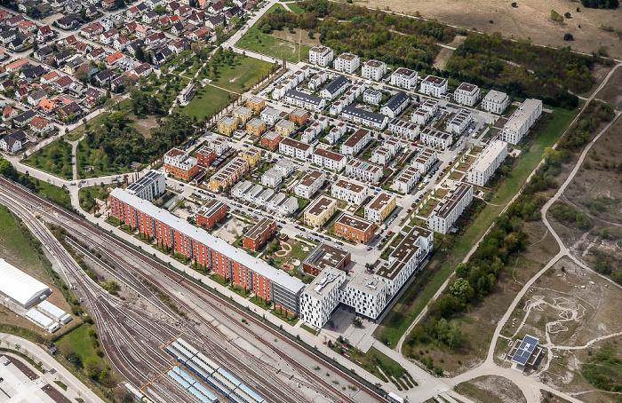 Luftbild aus Zeppelin: Schwabing-Freimann - Fröttmaning: Wohnquartier Haidpark München 2017