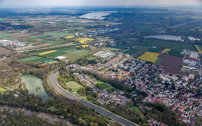 Luftbild aus Zeppelin München 2017