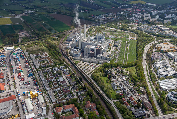 Luftbild aus Zeppelin: Heizkraftwerk München-Nord München 2017