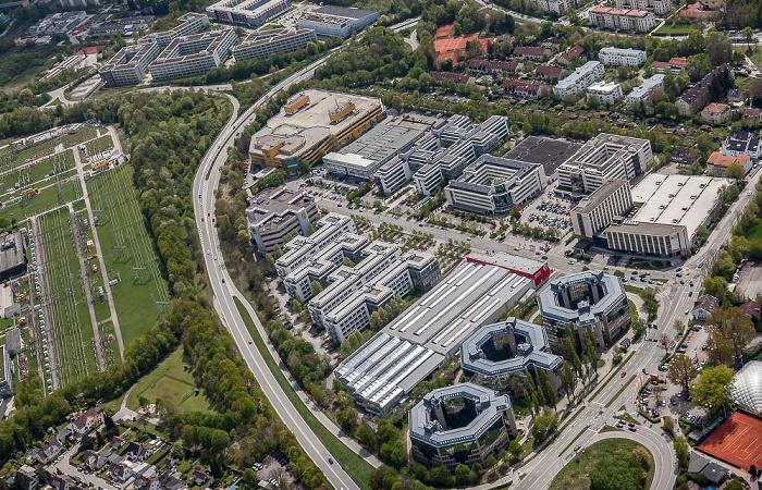 Luftbild aus Zeppelin: Föhringer Ring, Feringapark mit Feringastraße München 2017