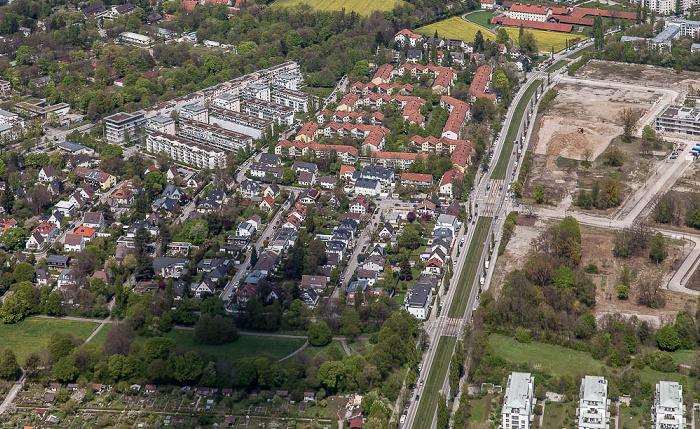 Luftbild aus Zeppelin: Bogenhausen - Oberföhring München