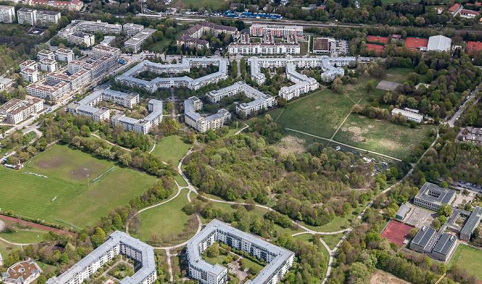 Luftbild aus Zeppelin: Bogenhausen - Johanneskirchen München