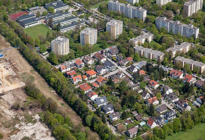 Luftbild aus Zeppelin: Bogenhausen - Englschalking (Fideliopark) München