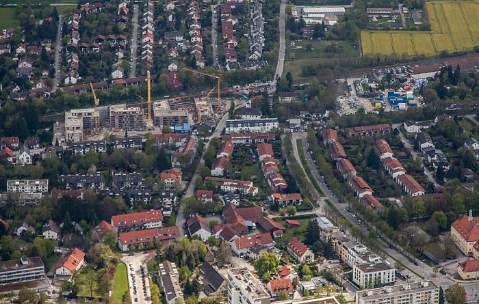 Luftbild aus Zeppelin: Bogenhausen - Englschalking (unten) / Daglfing (oben) München