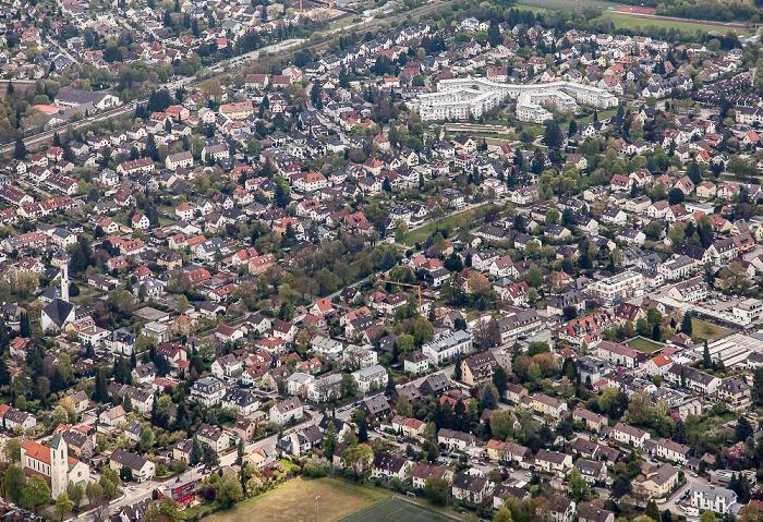 Luftbild aus Zeppelin: Bogenhausen - Englschalking (Denning) München