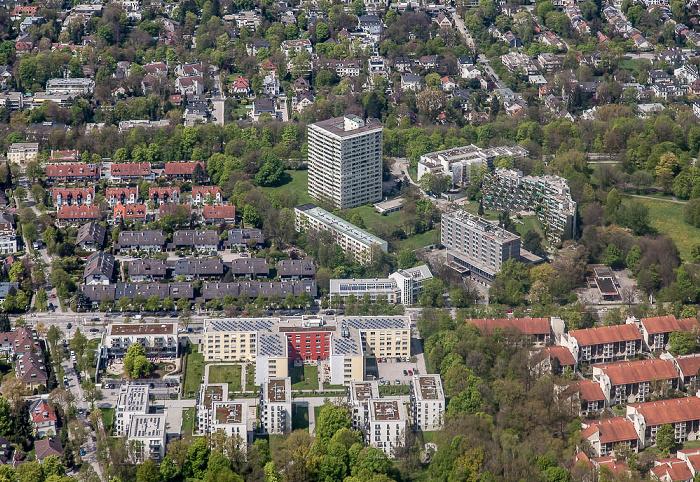 Luftbild aus Zeppelin: Bogenhausen - Herzogpark München
