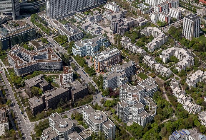 Luftbild aus Zeppelin: Bogenhausen - Parkstadt Bogenhausen mit dem Arabellapark München