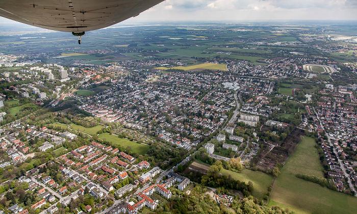 Luftbild aus Zeppelin: Bogenhausen - Englschalking München