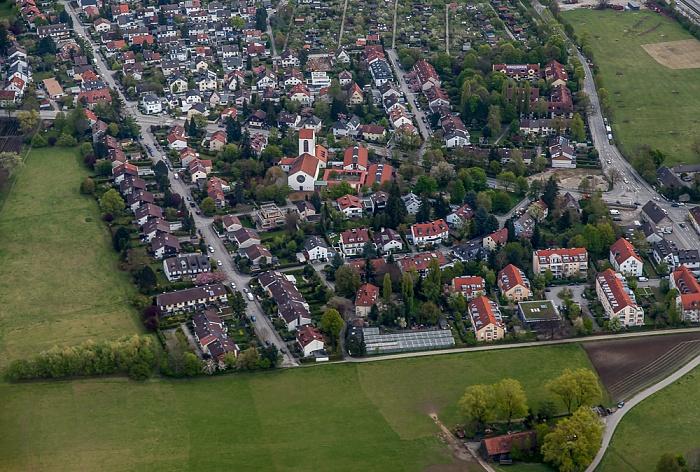 Luftbild aus Zeppelin: Bogenhausen - Englschalking (Zamdorf) München