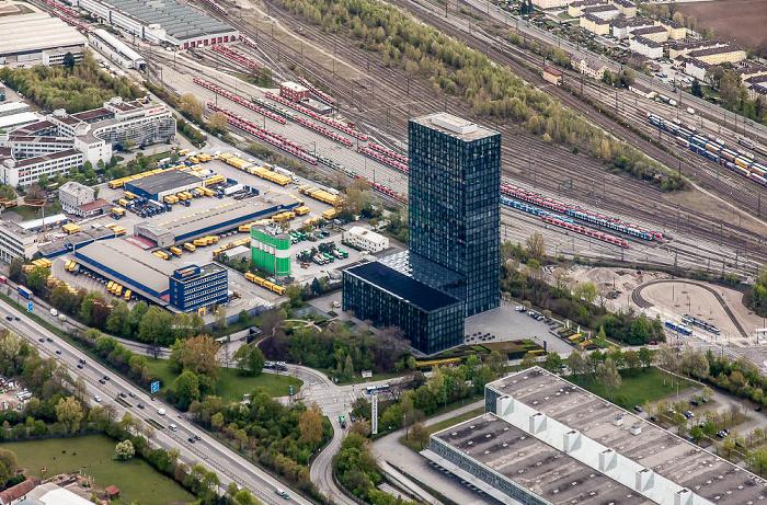 Luftbild aus Zeppelin: Bogenhausen - Englschalking (Steinhausen) München